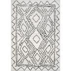 Hilma Modern Dotted Diamonds Gray 9 ft. x 12 ft. Area Rug