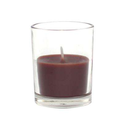 2 in. Brown Round Glass Votive Candles (12-Box)