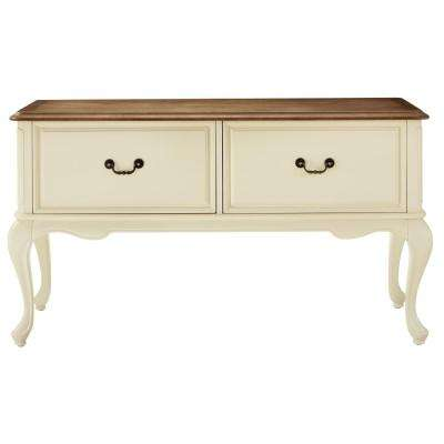 Provence Ivory File Console with Ash Grey Top