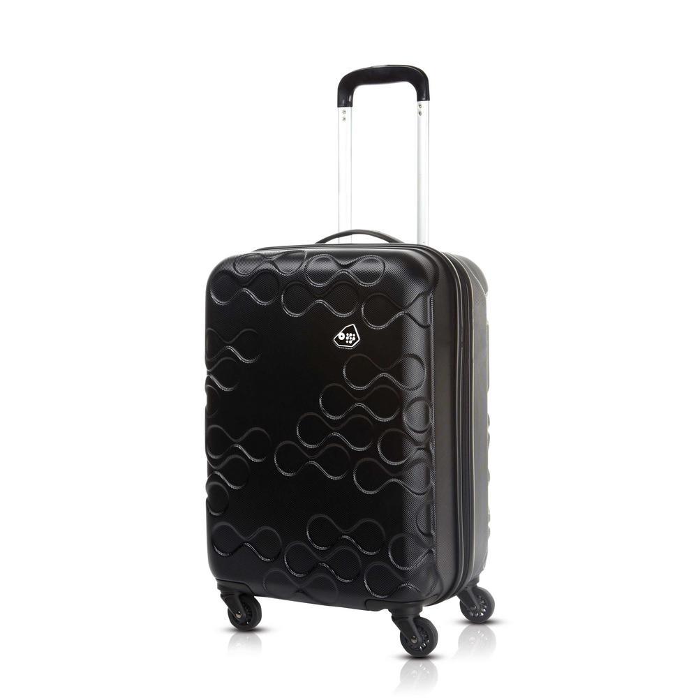 Harrana Black 3-Piece Spinner Luggage Set