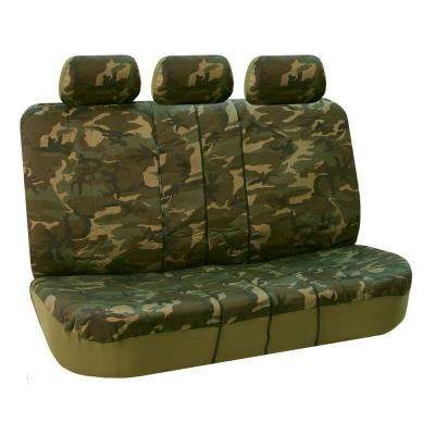 Cotton 47 in. x 23 in. x 1 in. Trendy Camouflage Full Set Seat Covers