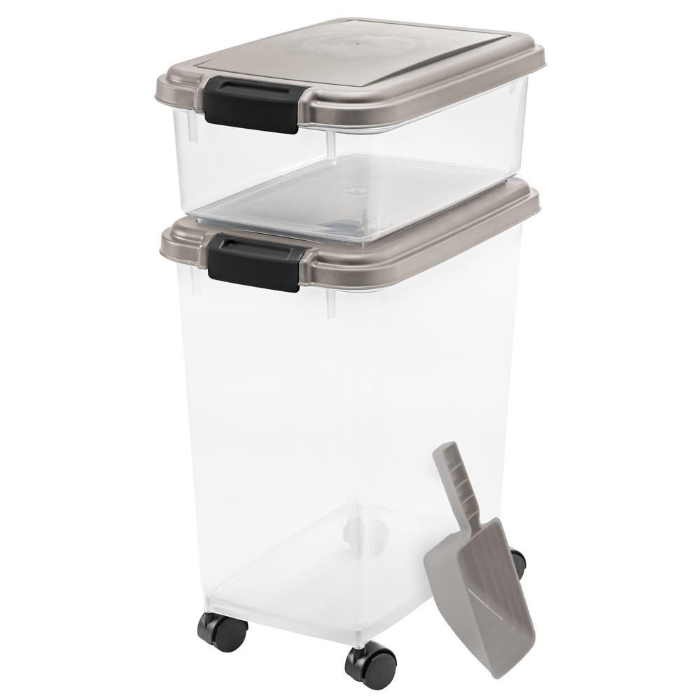 Airtight Pantry Storage Container with Removable Scoop Storage and Leveler