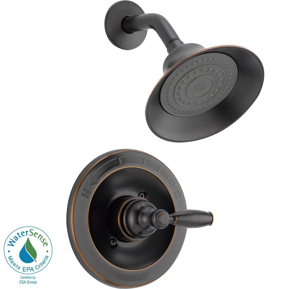Peerless Single-Handle Shower Faucet Trim Kit in Oil Rubbed Bronze ...