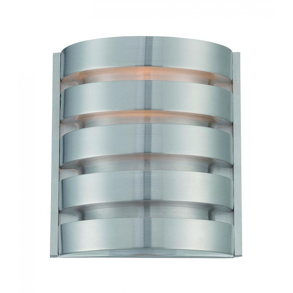 1-Light Silver Wall Sconce