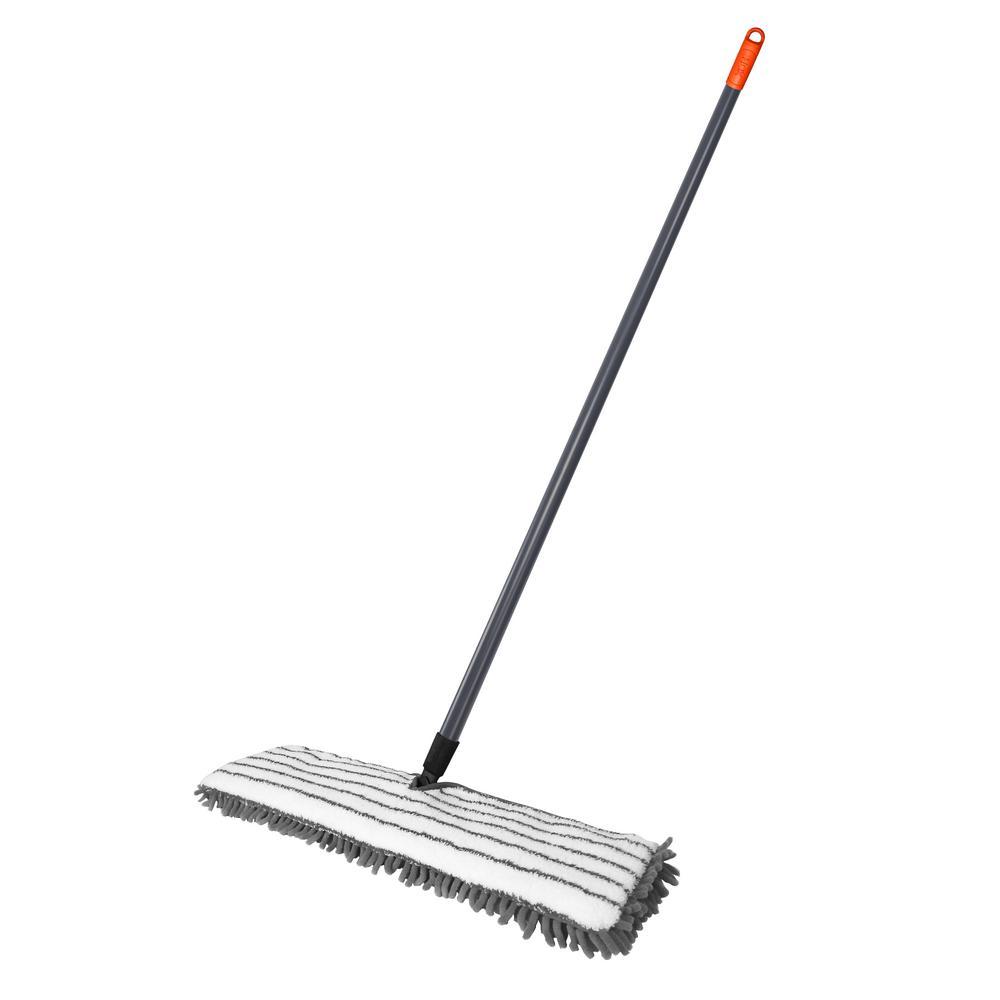 24 inch Professional Commercial Microfiber Mop With Three 24 Premium Microfiber Mop Pads and 2 Bonus Microfiber Towels