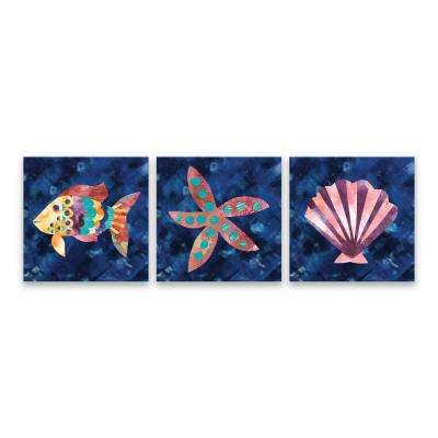 """Boho Reef - Set of 3"" by Wild Apple Portfolio Printed Canvas Wall Art"