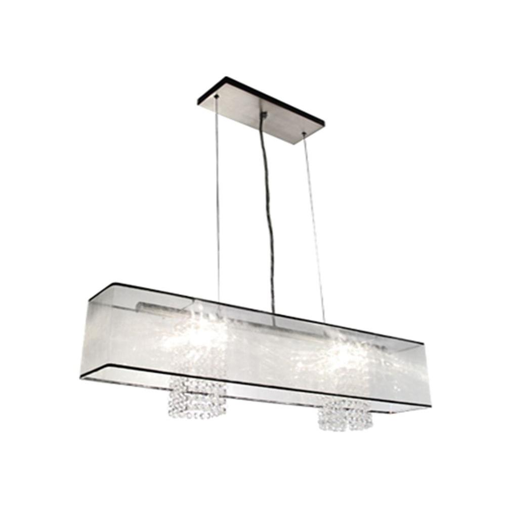 BAZZ Glam- Calisto Collection 2-Light Hanging Chrome Pendant-DISCONTINUED