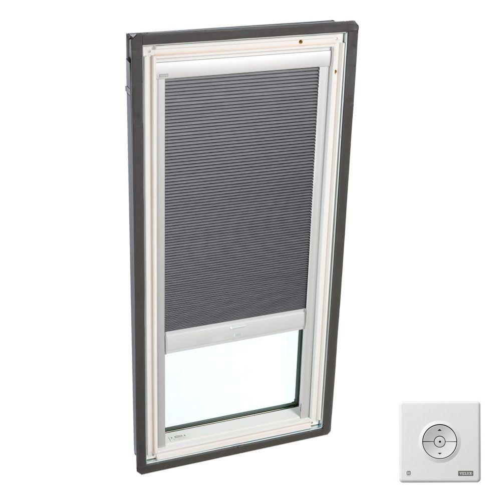 Grey Solar Powered Room Darkening Skylight Blinds for FS S06 and