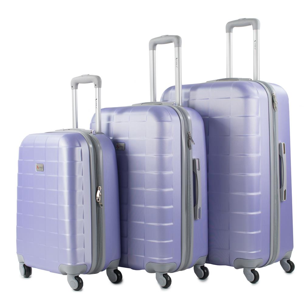 Palette Gravender 3-Piece Expandable Hardside Spinner Luggage Set