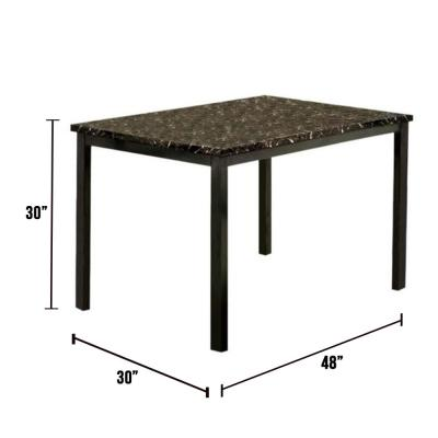 Colman 48 in. Black Contemporary Style Dining Table