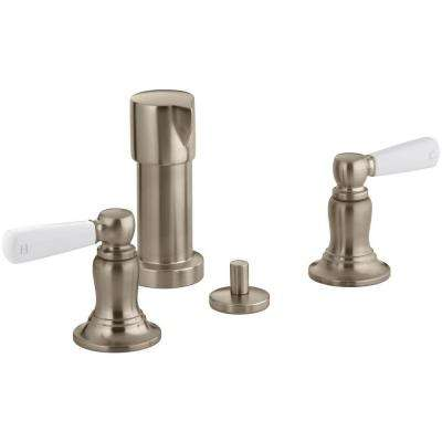 Bancroft 2-Handle Bidet Faucet in Vibrant Brushed Bronze with Metal Lever Handles