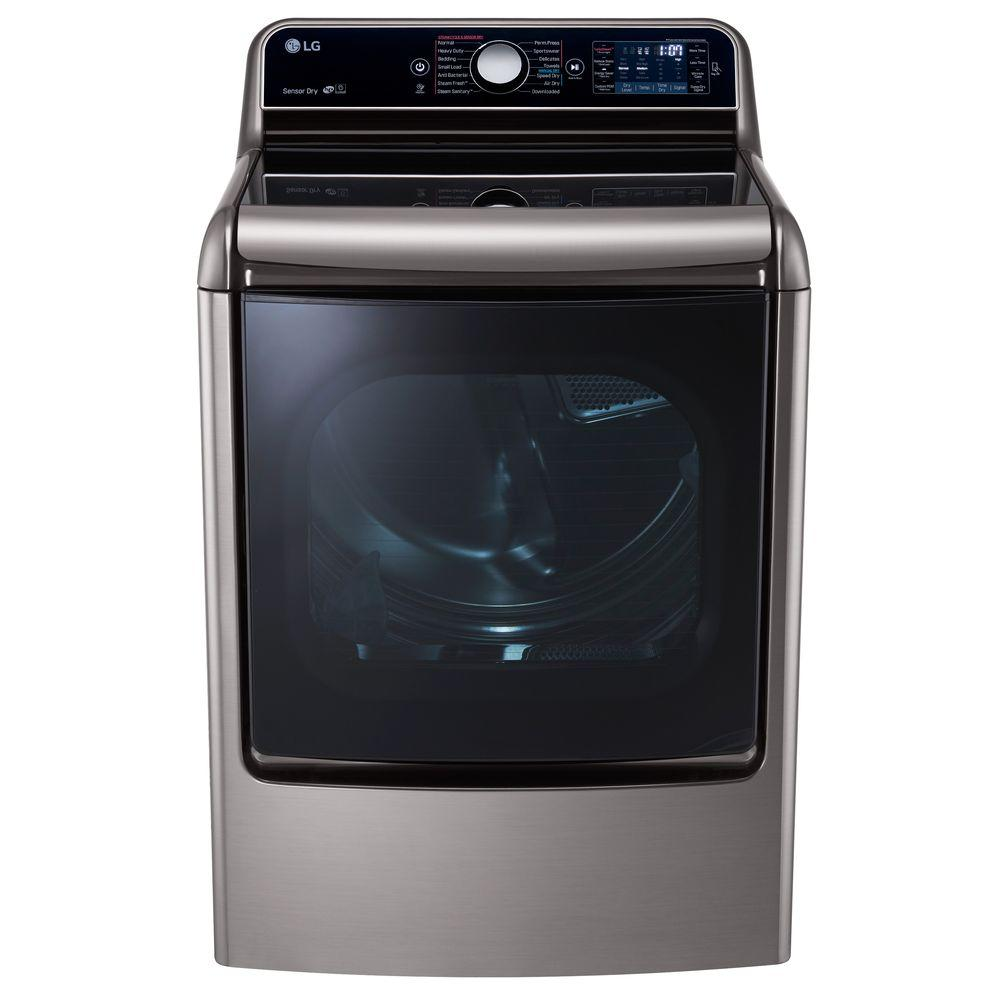 Lg 2 3 cu ft all in one washer and dryer - Lg Electronics 9 0 Cu Ft Electric Dryer With Easyload And Steam In Graphite Steel