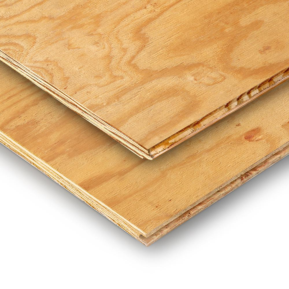 23 32 In X 4 Ft X 8 Ft Southern Pine Tongue And Groove Plywood Sheathing 605189 The Home Depot