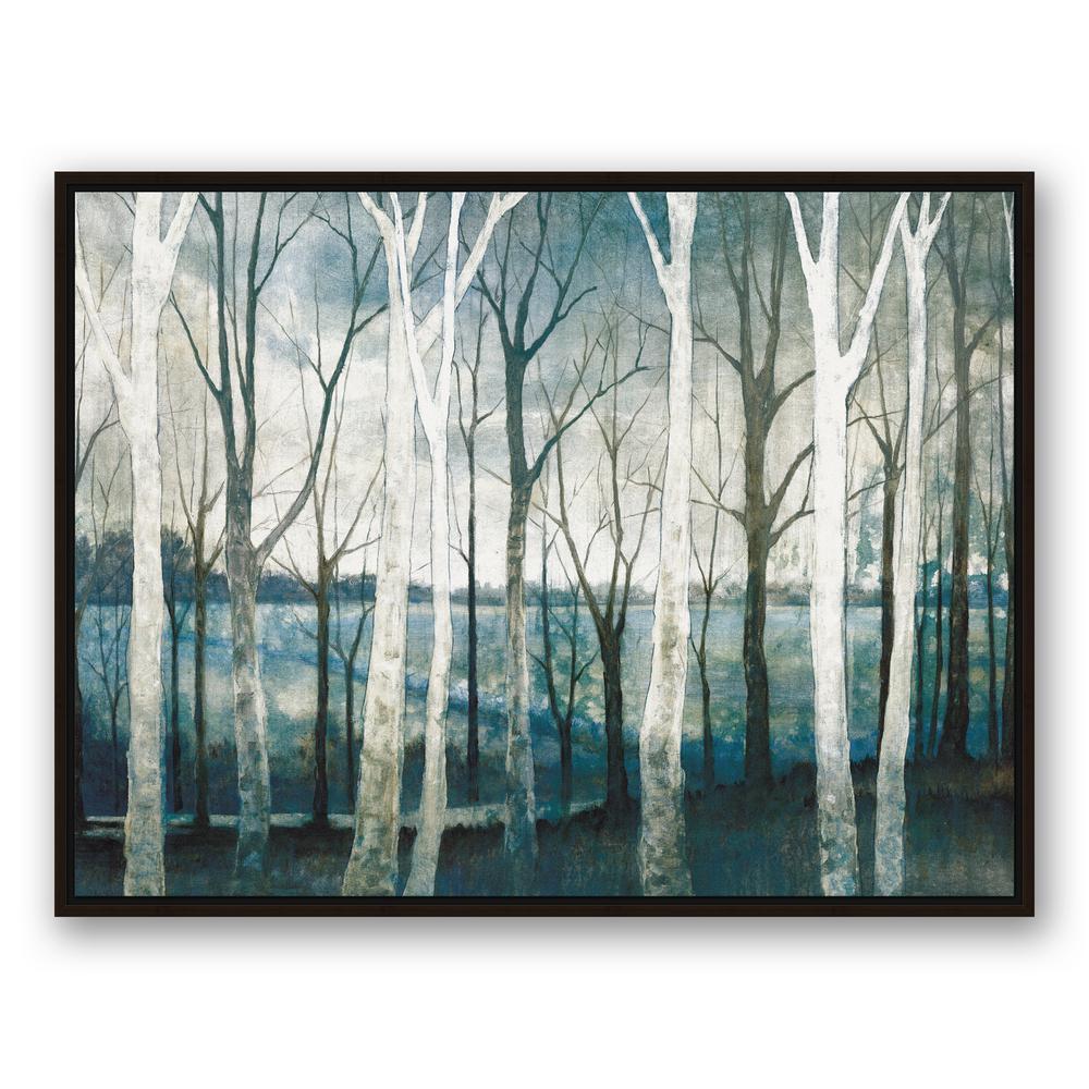 30 in. x 40 in. ''Birch Tree Marsh'' Printed Framed Canvas Wall Art