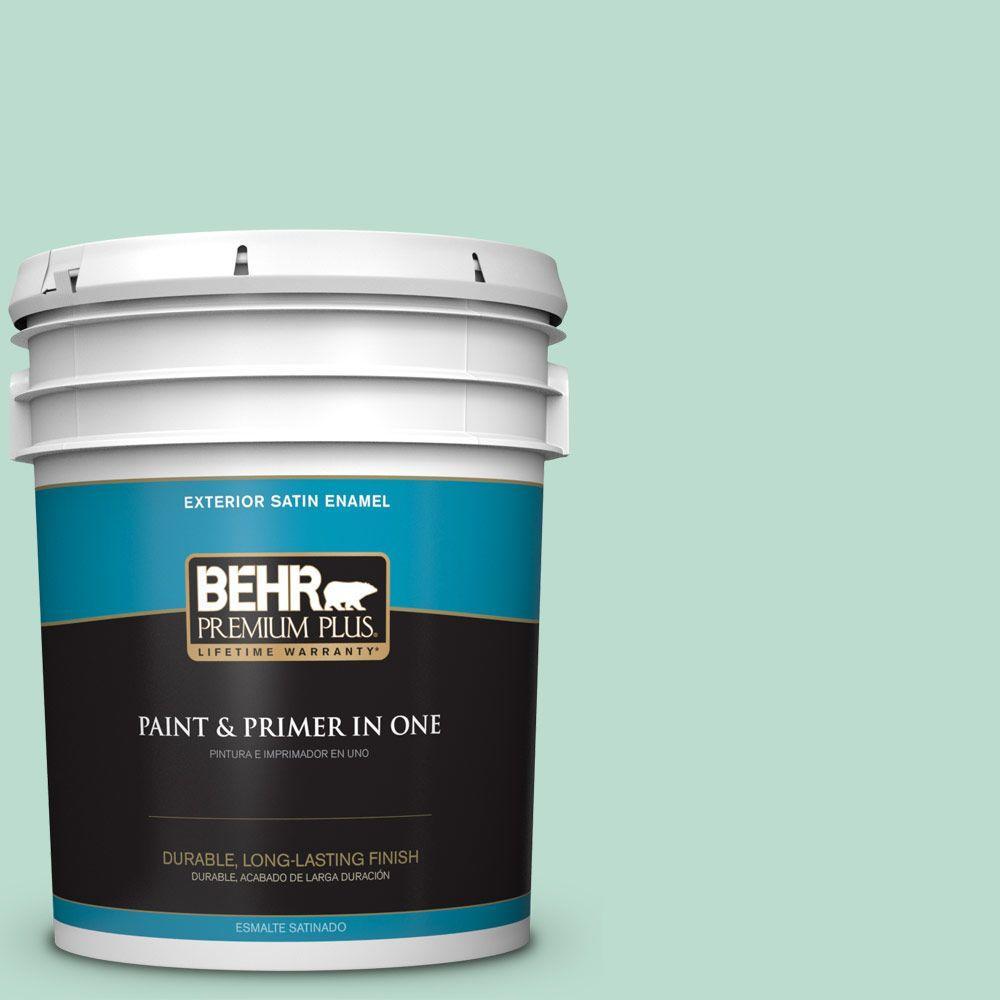 BEHR Premium Plus 5-gal. #M420-3 Mirador Satin Enamel Exterior Paint