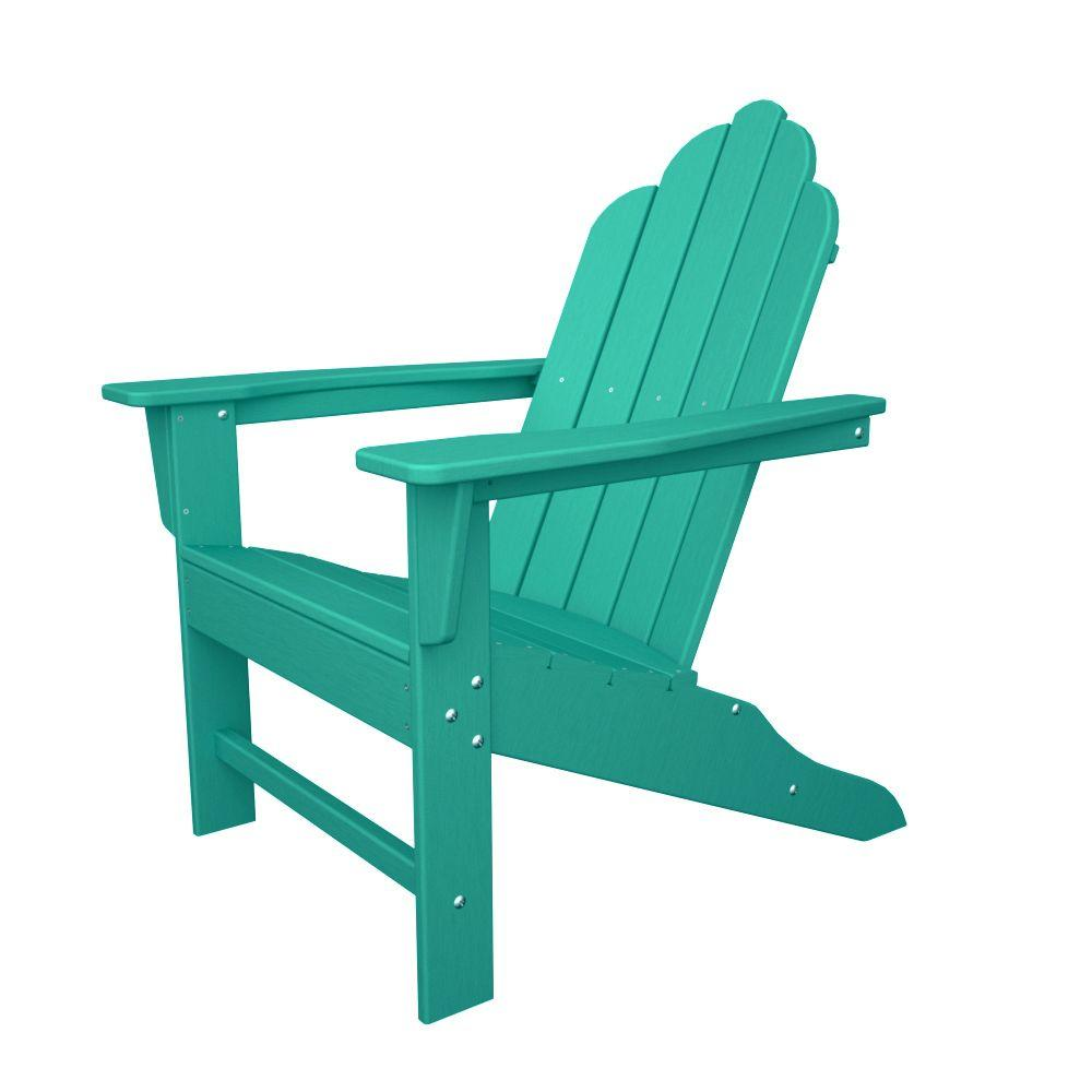 POLYWOOD Long Island Aruba Plastic Patio Adirondack Chair
