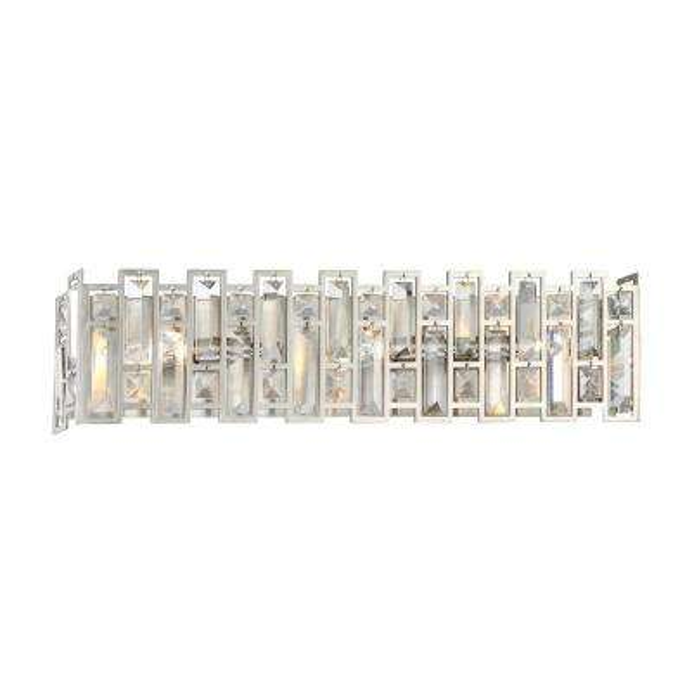 West 65th 3-Light Satin Platinum Interior Bath Vanity Light