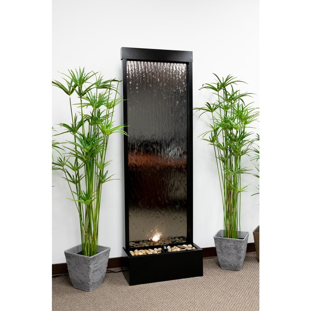 Alpine Mirror Waterfall Silver With Decorative Stones And