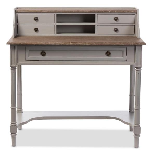 Baxton Studio Edouard French Provincial White Finished Wood Desk 28862-6653-HD