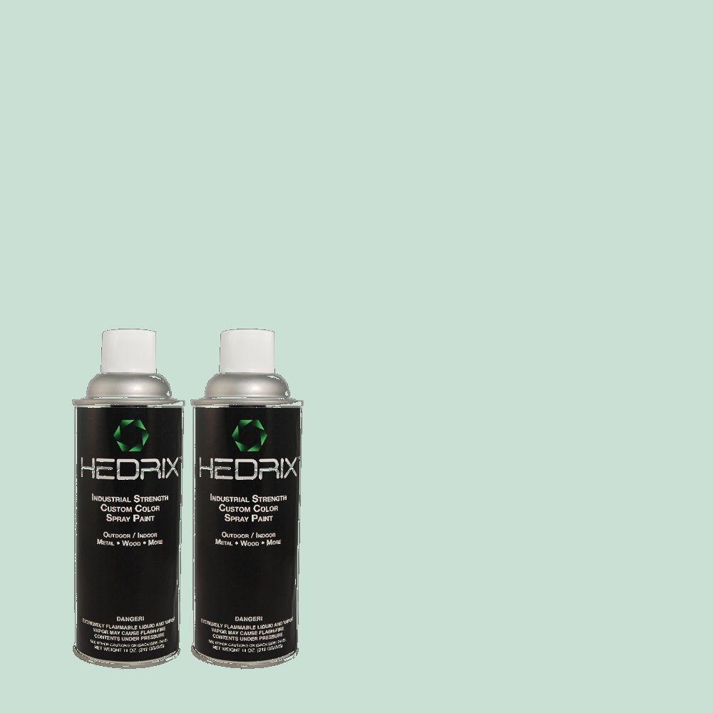 Hedrix 11 oz. Match of 2B53-2 Mermaid's Lace Low Lustre Custom Spray Paint (2-Pack)