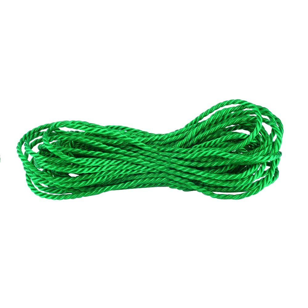 1/4 in. x 50 ft. Green Twisted Polypropylene Rope