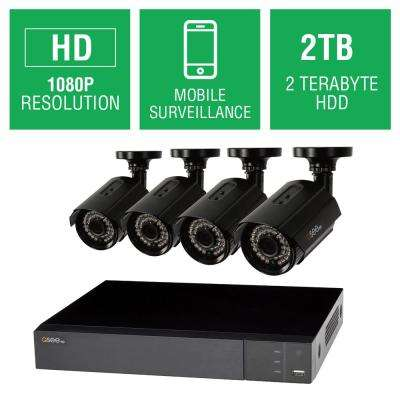 8-Channel 1080p 2TB Full HD Surveillance System with (4) 1080p Bullet Cameras