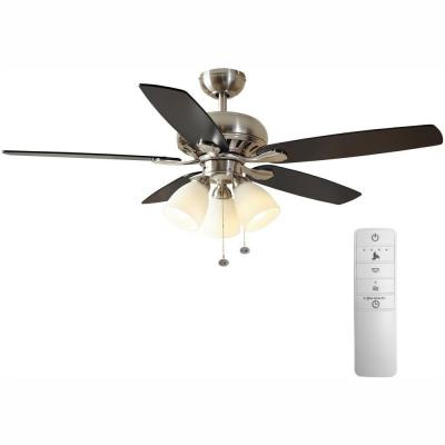 Rockport 52 in. LED Indoor Brushed Nickel Smart Ceiling Fan with Light Kit and WINK Remote Control