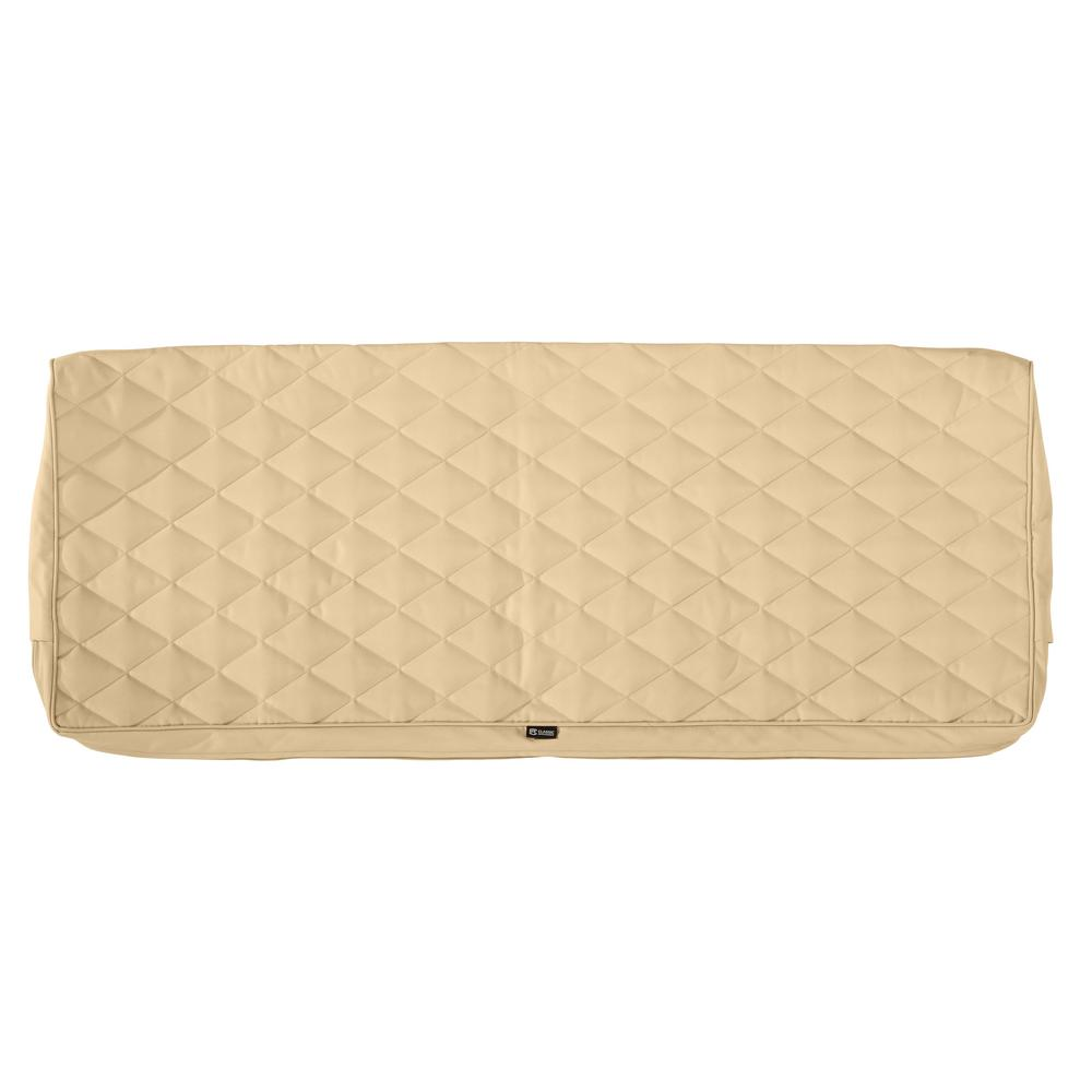 Classic Accessories Montlake Fadesafe 42 In W X 18 In D X 3 In T Chamomile Quilted Settee Bench Cushion Slipcover