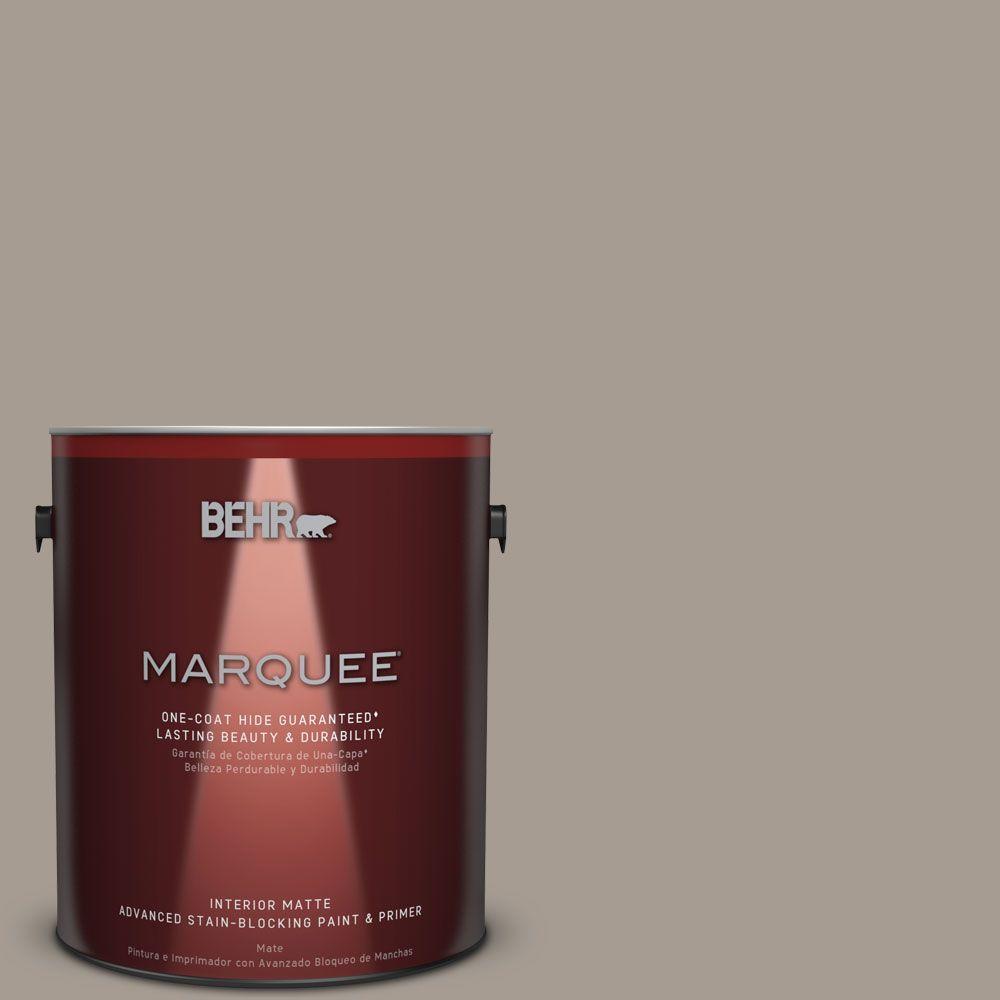 Behr Marquee 1 Gal N200 4 Rustic Taupe One Coat Hide Matte
