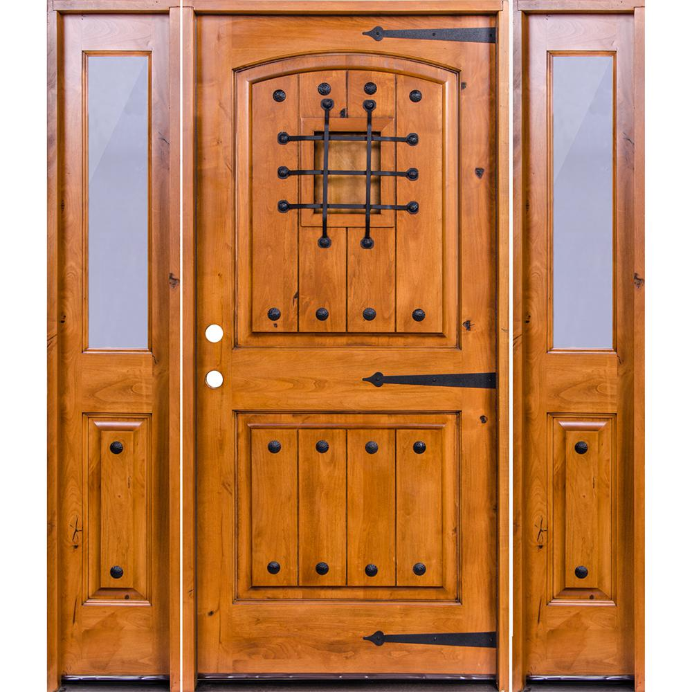 unfinished front doorKrosswood Doors 745 in x 97625 in Mediterranean Knotty Alder