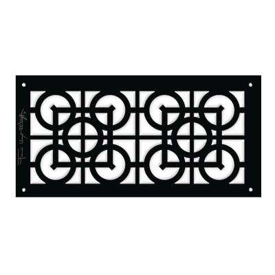 Frank Lloyd Wright Collection Luxfer Lattice Major Grille 6 in. x 12 in. Aluminum Black-Matte