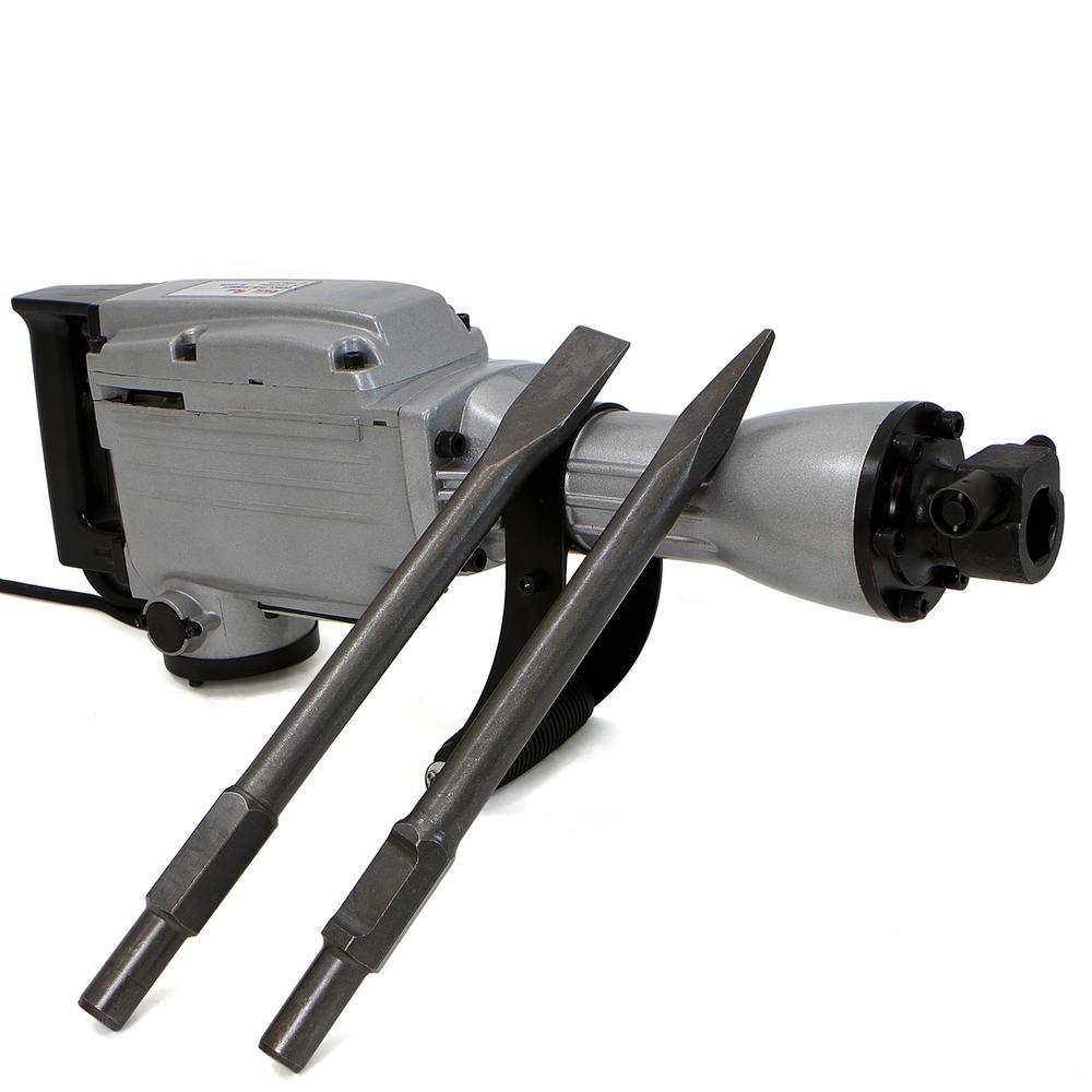 2200-Watt Heavy-Duty Electric Demolition Jack Hammer Concrete Breaker Tool Kit