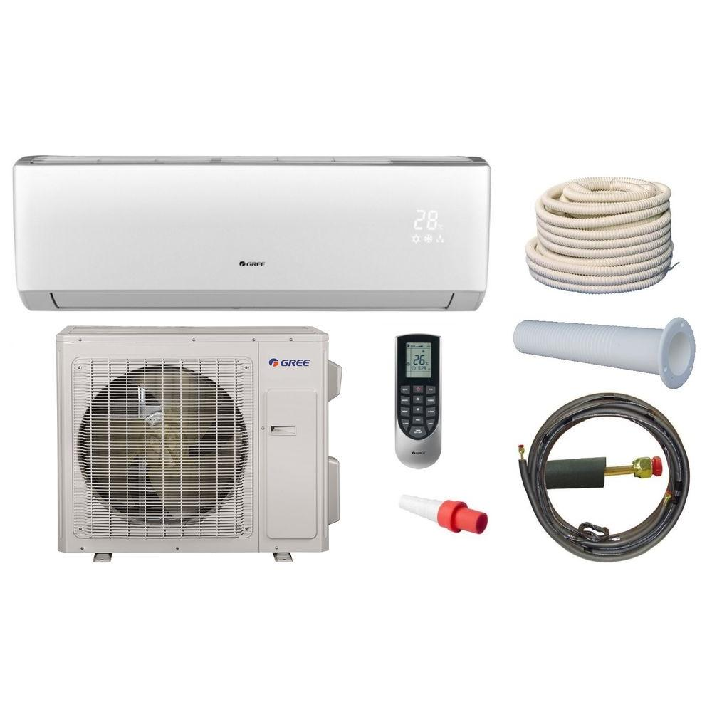 Gree Vireo 28000 Btu Ductless Mini Split Air Conditioner And Heat Pump Kit 230v Vir30hp230v1ak The Home Depot