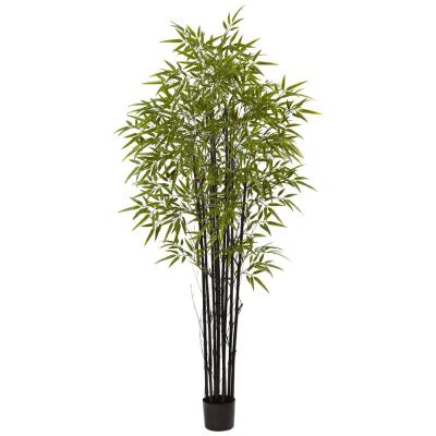Indoor and Outdoor 6 ft. Black Bamboo Tree UV Resistant