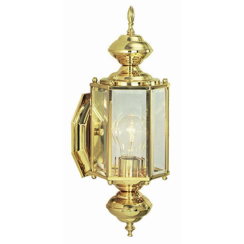 Design House Augusta Solid Brass Outdoor Wall-Mount Uplight-501692 ...