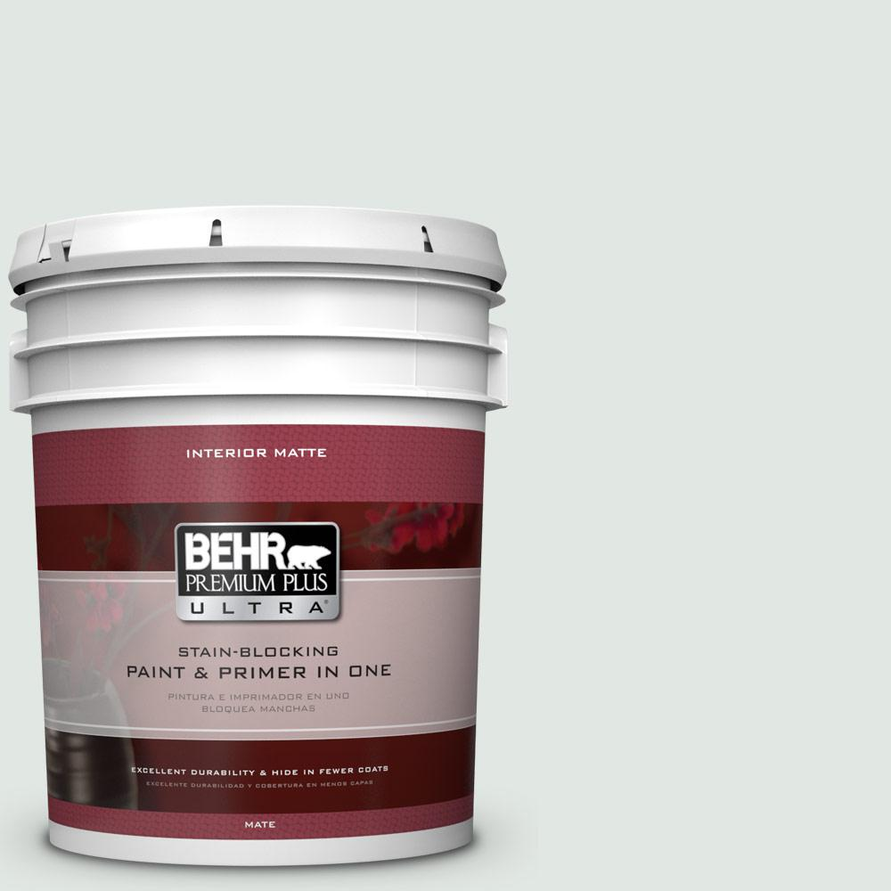 5 gal. #PPL-56 Winter Veil Matte Interior Paint and Primer in