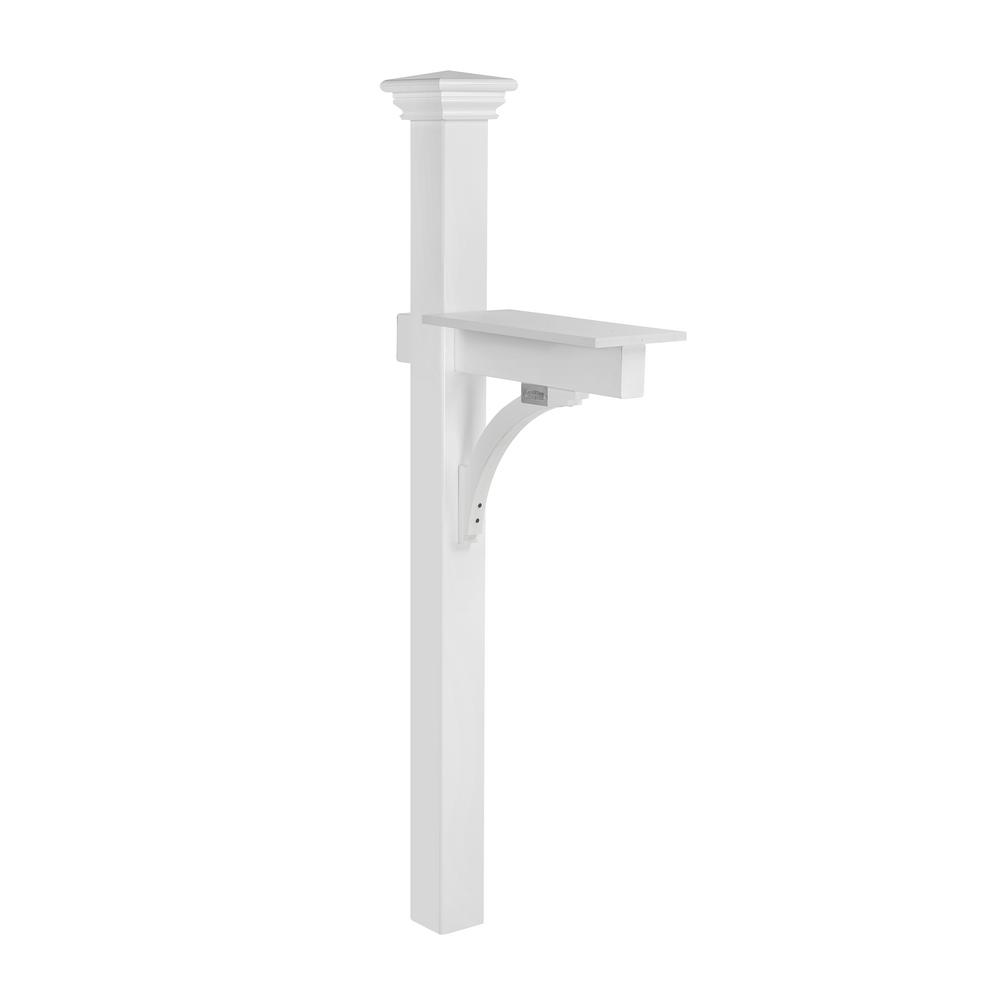 wood mailbox posts. Good Directions Lazy Hill Farm 84 In. Sovereign Mailbox Post, White Wood Posts O