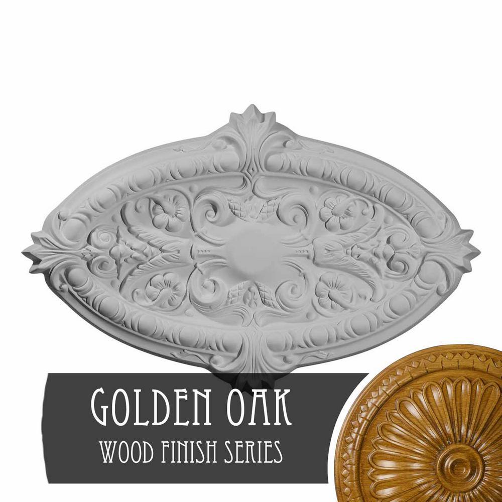 Ekena Millwork 1 3 4 In X 26 3 8 In X 17 1 4 In Polyurethane Marcella Ceiling Golden Oak Cm26mrgos The Home Depot
