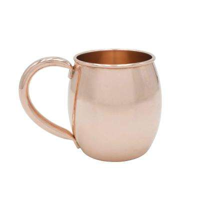 Rounded 22 oz. Extra Thick Pure Solid Copper Moscow Mule Mug
