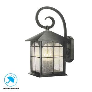 Brimfield 3-Light Aged Iron Outdoor Wall Lantern