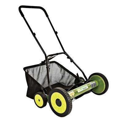 Mow Joe 20 in. Manual Push Walk Behind Reel Mower with Catcher