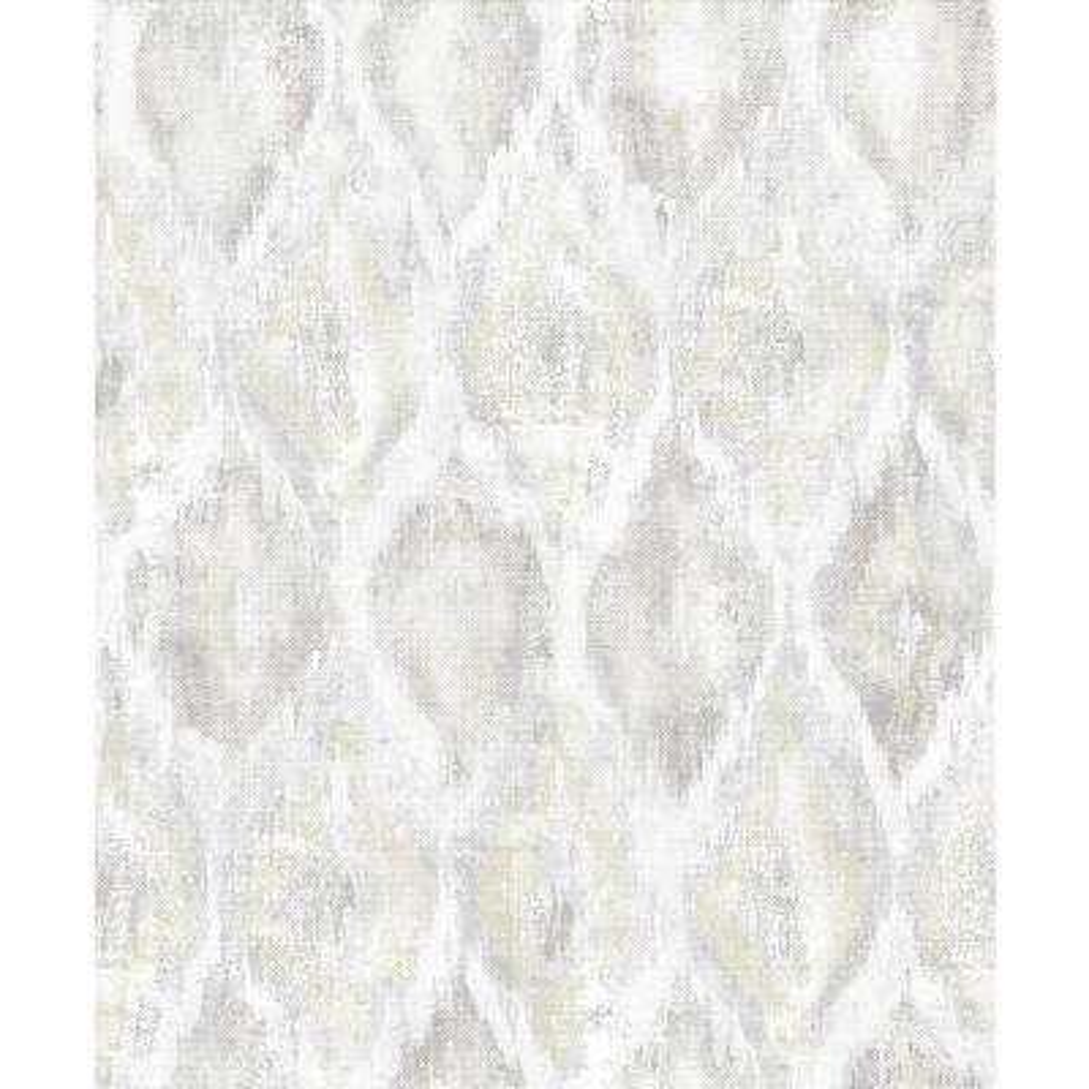 8 in. x 10 in. Gilboa Eggshell Ikat Wallpaper Sample