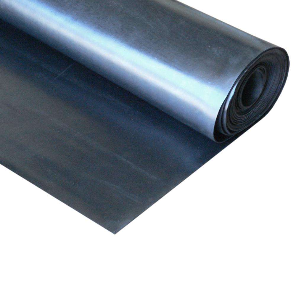 Rubber-Cal EPDM 1/4 in. x 36 in. x 216 in. Commercial Grade 60A Rubber Sheet - Black