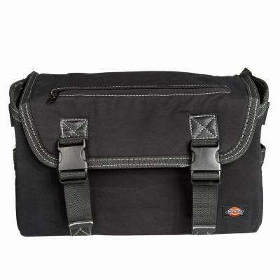 16 in. Soft Sided Job Foreman's Tool Case Messenger Bag in Black