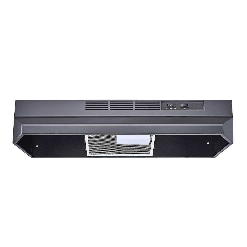 Winflo 30 in. Ductless/Non-Ducted Under Cabinet Range Hood in Black ...