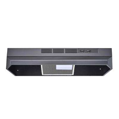 30 in. Ductless/Non-Ducted Under Cabinet Range Hood in Black Color with Mesh Charcoal Filter