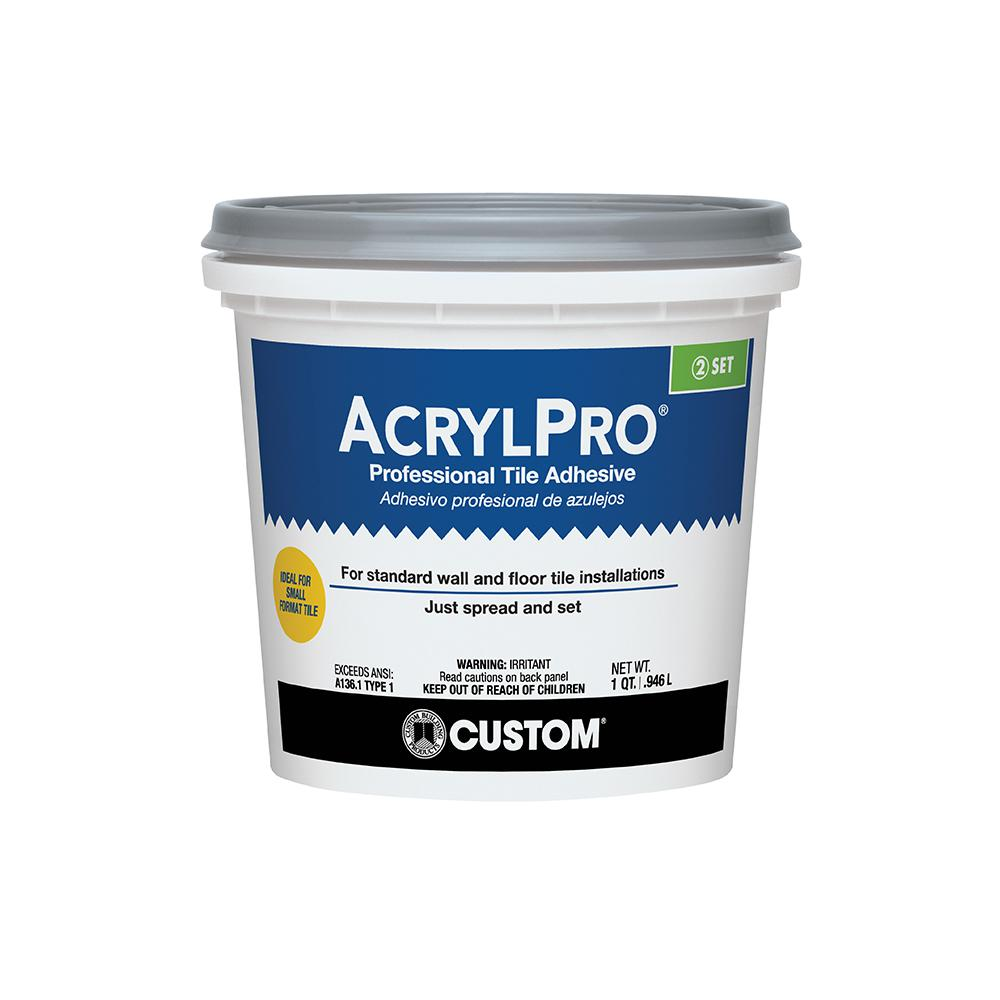 Custom building products acrylpro 1 qt ceramic tile adhesive custom building products acrylpro 1 qt ceramic tile adhesive dailygadgetfo Choice Image