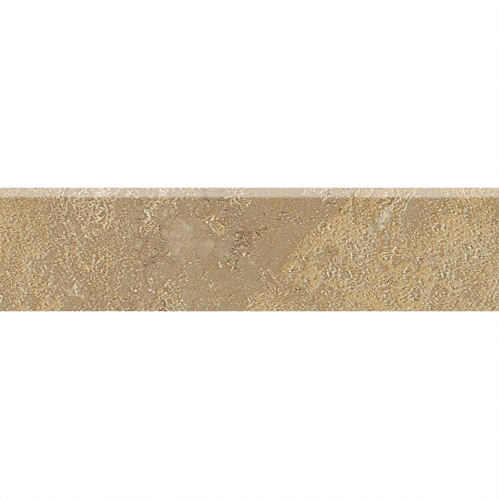 Sandalo Raffia Noce 3 in. x 12 in. Ceramic Bullnose Wall and Floor Tile