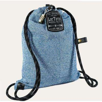 Flak Sack Sport 9 in. Blue Backpack with Theft Proof Features