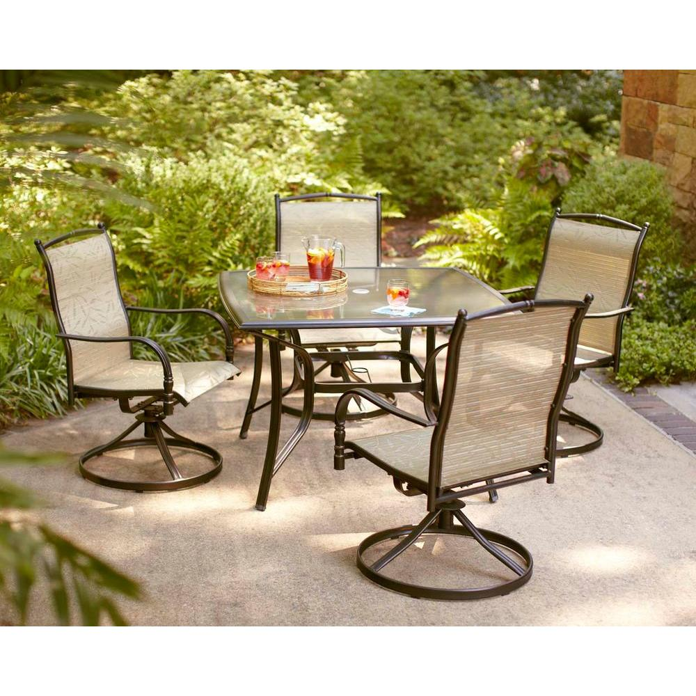 Hampton Bay Altamira Tropical 5-Piece Patio Dining Set